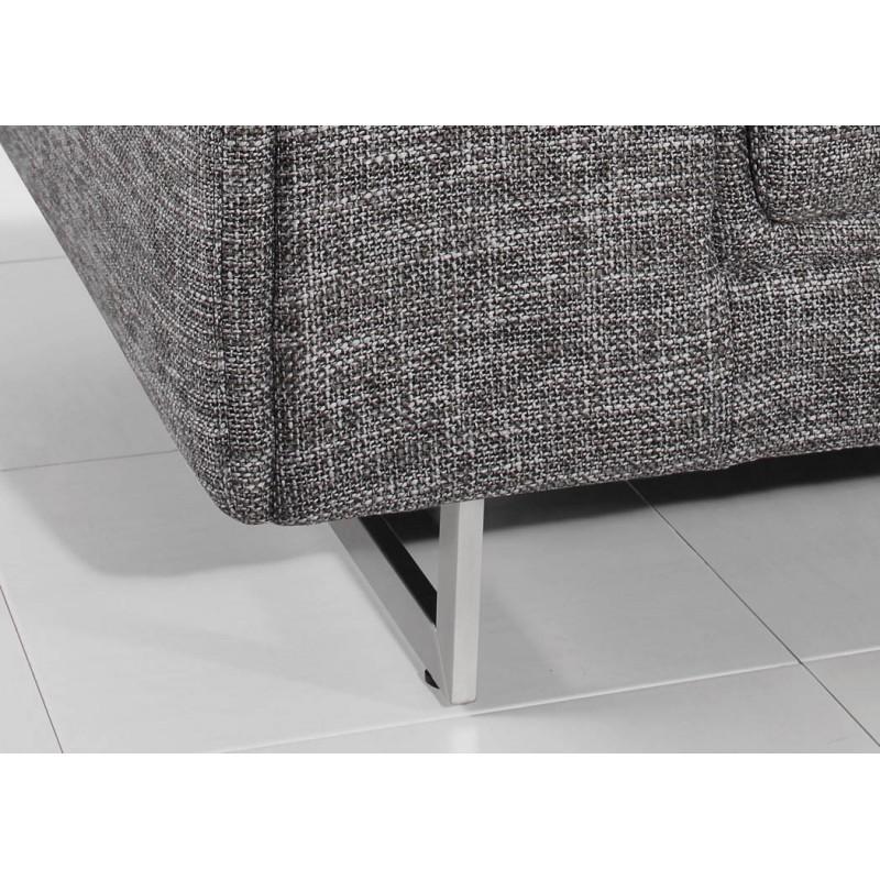 droit design 3 places MARIO en tissu gris clair chiné