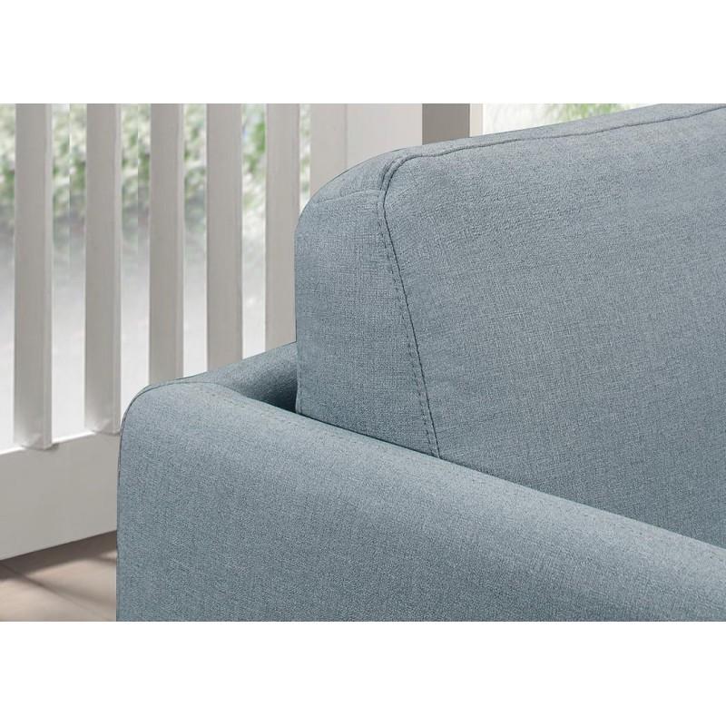 Fauteuil vintage cubique JONAZ en tissu (bleu clair) - image 30277