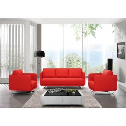 Tessuto dell'annata di lingua JONAZ (rosso) cubico sedia