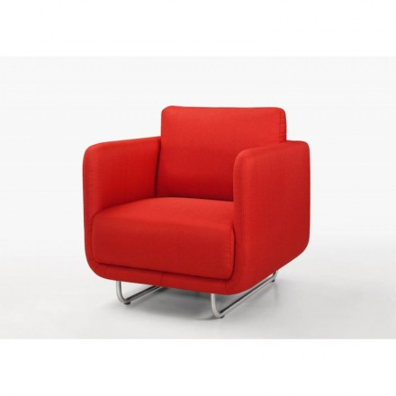 Vintage cubic JONAZ (red) fabric Chair