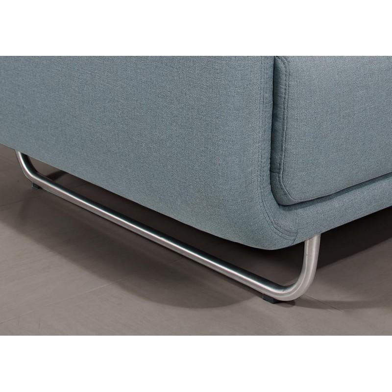 Canapé droit vintage cubique 2 places JONAZ en tissu (bleu clair) - image 30293