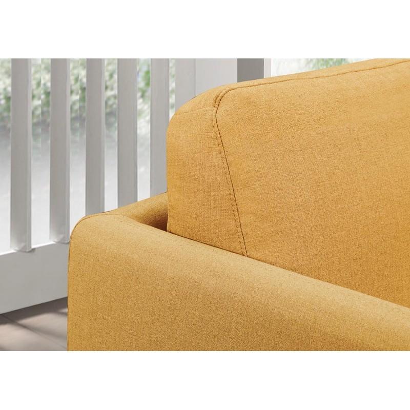 Canapé droit vintage cubique 2 places JONAZ en tissu (jaune) - image 30307