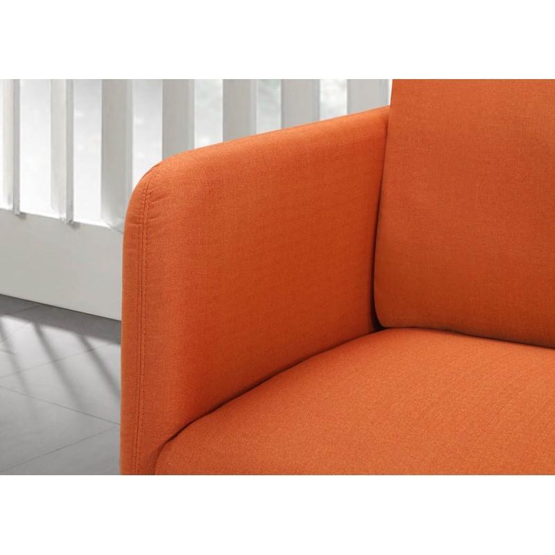Canapé droit vintage cubique 3 places JONAZ en tissu (orange) - image 30318