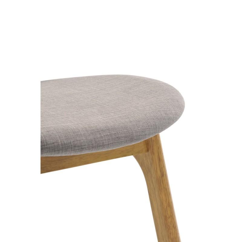 Lot de 2 chaises vintages INES en tissu et bois (gris clair, chêne) - image 30370