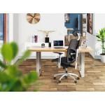 Fauteuil de bureau design ergonomique BAHAMAS en tissu (noir)