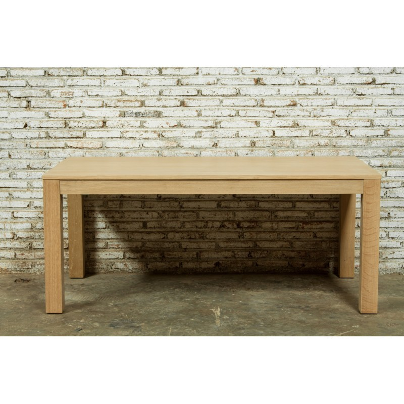 Table à manger extensible (180/235x90cmx76,5cm) JASON en chêne massif (chêne naturel)