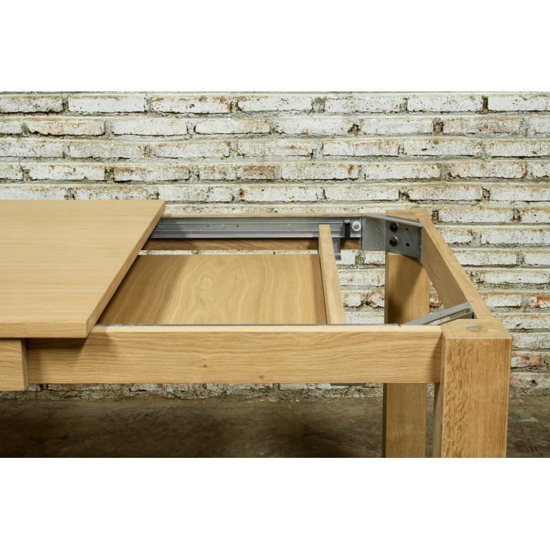 Table à manger extensible (180/235x90cmx76,5cm) JASON en chêne massif (chêne naturel) - image 30454