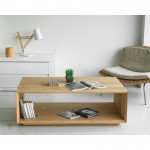 JASON rectangular coffee table solid oak (natural oak)