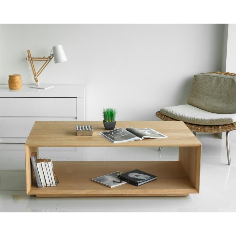 Table basse rectangulaire JASON en chêne massif (chêne naturel) - image 30464