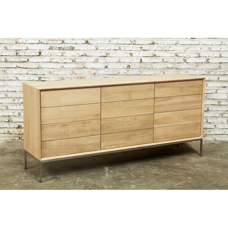 buffet enfilade bas design 2 portes 3 tiroirs jason en. Black Bedroom Furniture Sets. Home Design Ideas