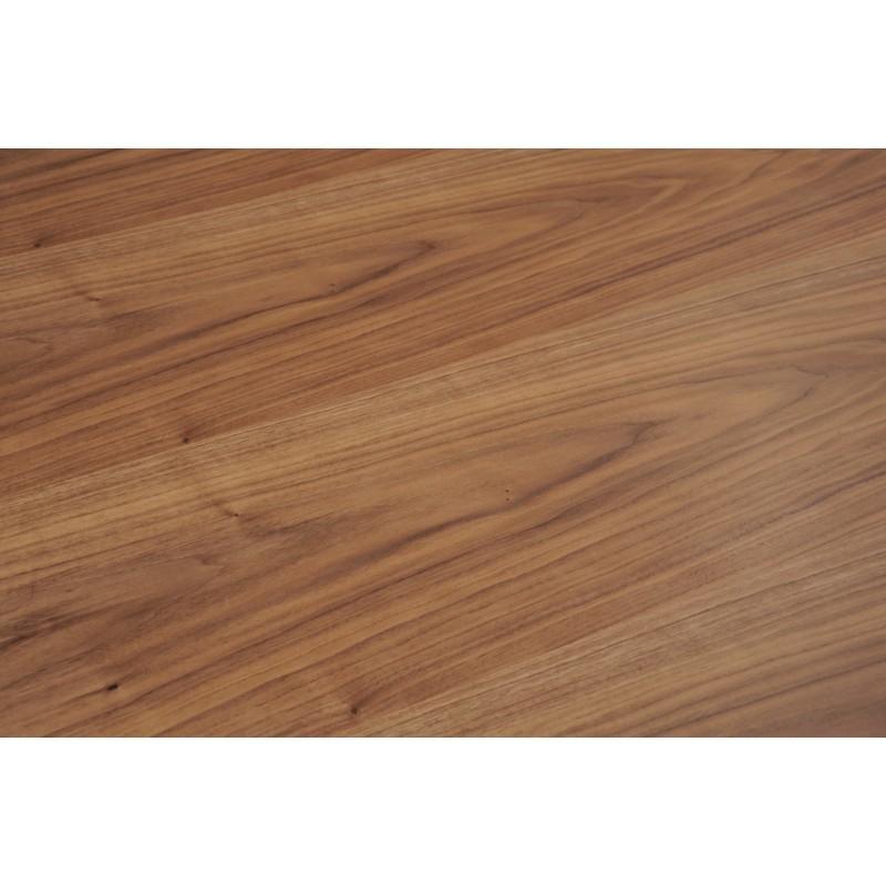 Table à manger contemporaine et vintage MAEL en bois et métal (200cmX90cmX77,5cm) (noyer, noir) - image 30538