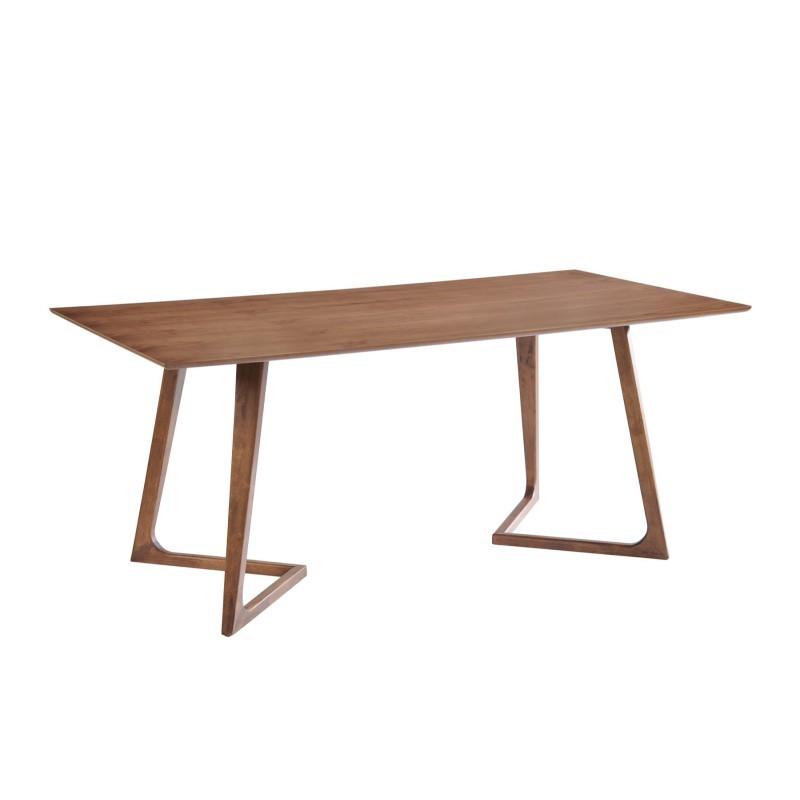 Table à manger design LOANE en bois (200cmX90cmX76cm) (noyer) - image 30546