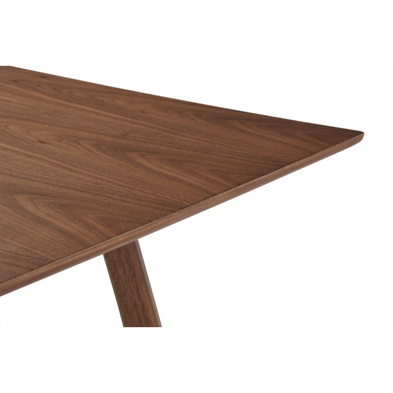 Table à manger design LOANE en bois (180cmX90cmX76cm) (noyer) - image 30547