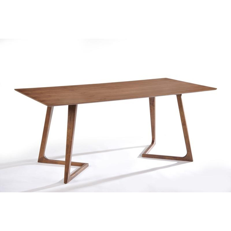 Table à manger design LOANE en bois (180cmX90cmX76cm) (noyer) - image 30549