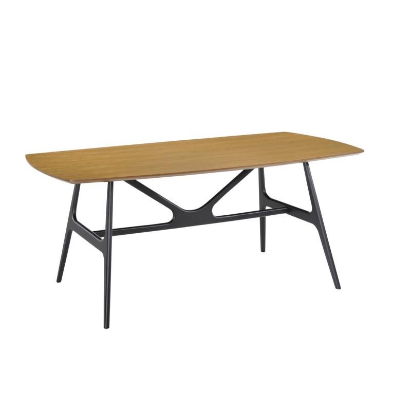 Table à manger design KATELL en bois (180cmX90cmX75,5cm) (chêne) - image 30553