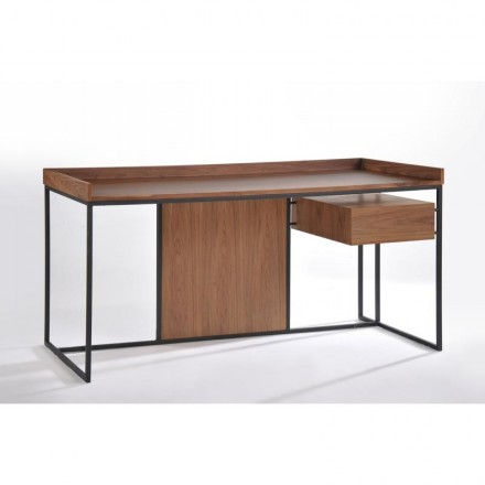 Office right vintage ARMEL in wood and metal (Walnut)