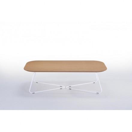 Tavolino design ARGAN legno e metallo (rovere naturale)