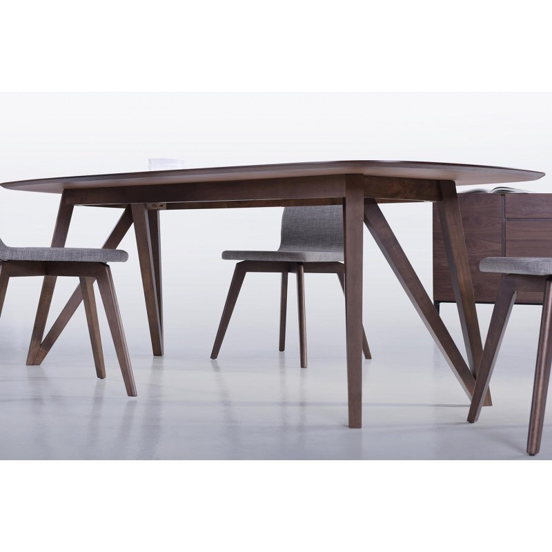 table manger contemporaine et vintage maelys en bois. Black Bedroom Furniture Sets. Home Design Ideas