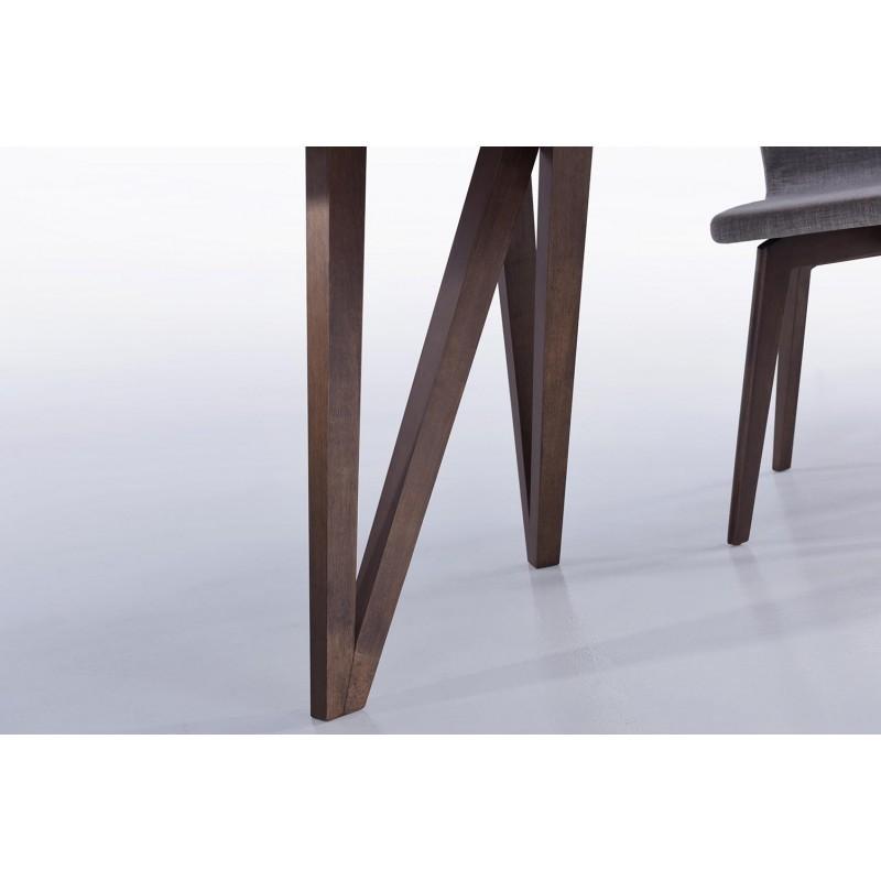 Table à manger contemporaine et vintage MAELYS en bois (240cmX100xcmX75cm) (noyer) - image 30571
