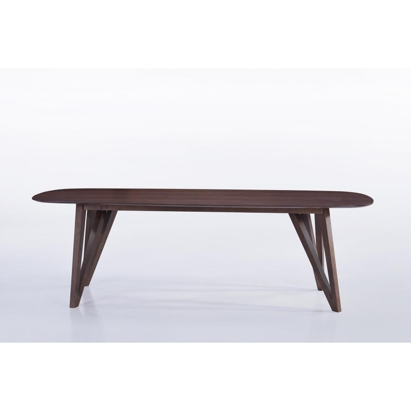 Table contemporary and vintage John wooden (240cmX100xcmX75cm) (drowned)