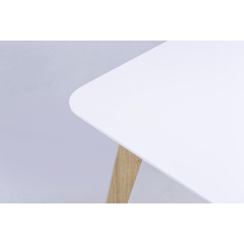 Table à manger extensible scandinave EVY en bois (180/224cmX90cmX76cm) (blanc) - image 30608