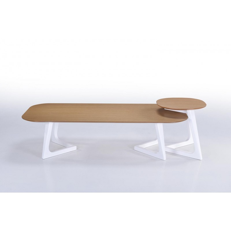 Table basse design et scandinave lug en bois ch ne naturel - Table basse en bois naturel ...