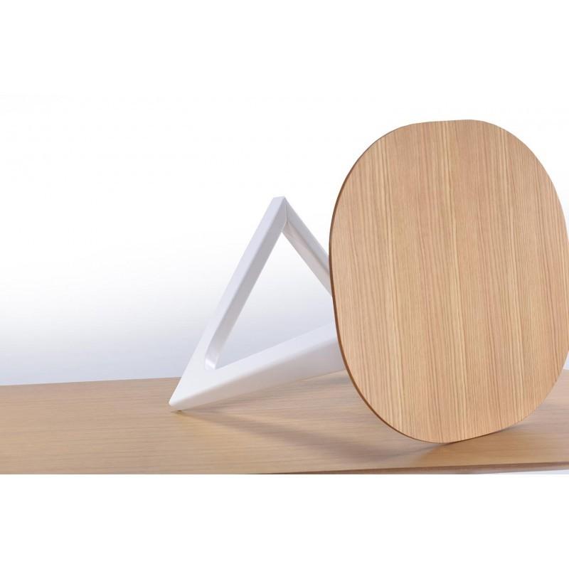Table d'appoint, bout de canapé design et scandinave LUG en bois (chêne naturel) - image 30618