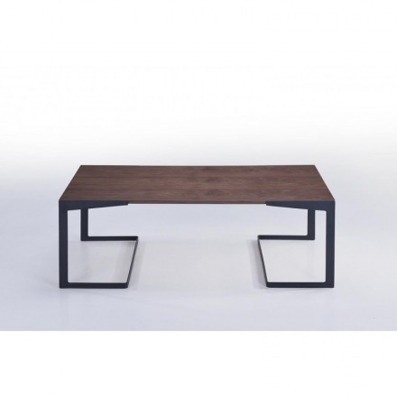 Table low MAGEN vintage wooden (Walnut)