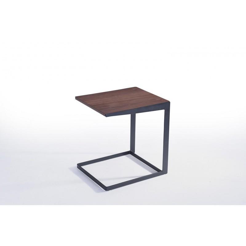 Table d'appoint, bout de canapé vintage MAGEN en bois (noyer) - image 30625