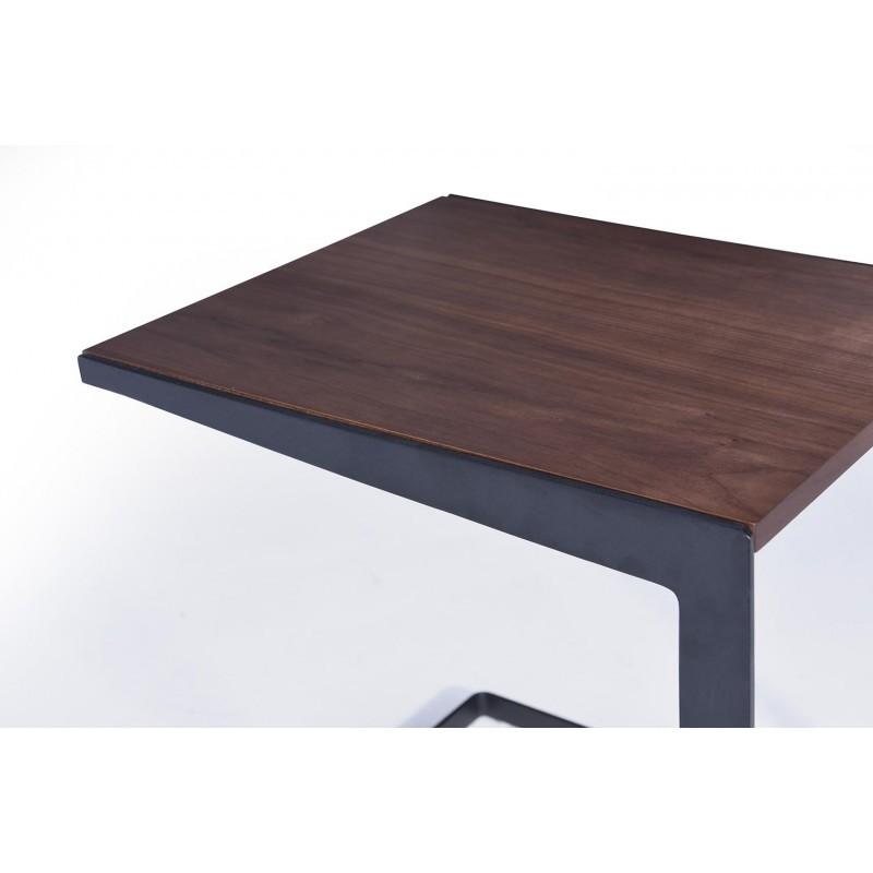 Table d'appoint, bout de canapé vintage MAGEN en bois (noyer) - image 30626