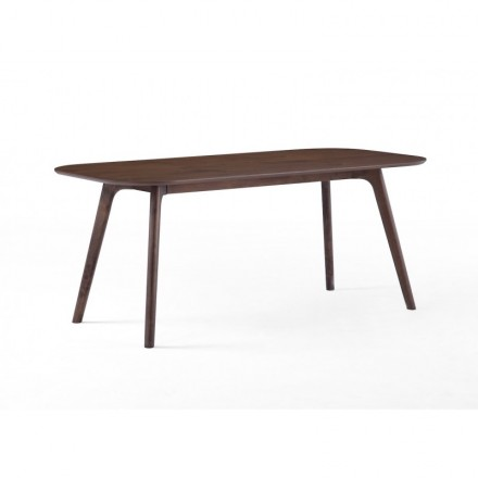 Table à manger design CORENTINE en bois (180cmX90X75cm) (noyer)