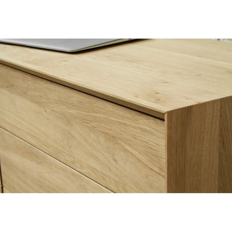 Buffet enfilade bas design 2 portes 3 tiroirs JASON en chêne massif (chêne naturel) - image 30668