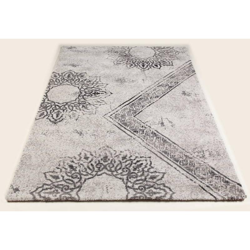 tapis de couloir moderne 80x300 cm modern fashion gabeh creme gris fonce. Black Bedroom Furniture Sets. Home Design Ideas