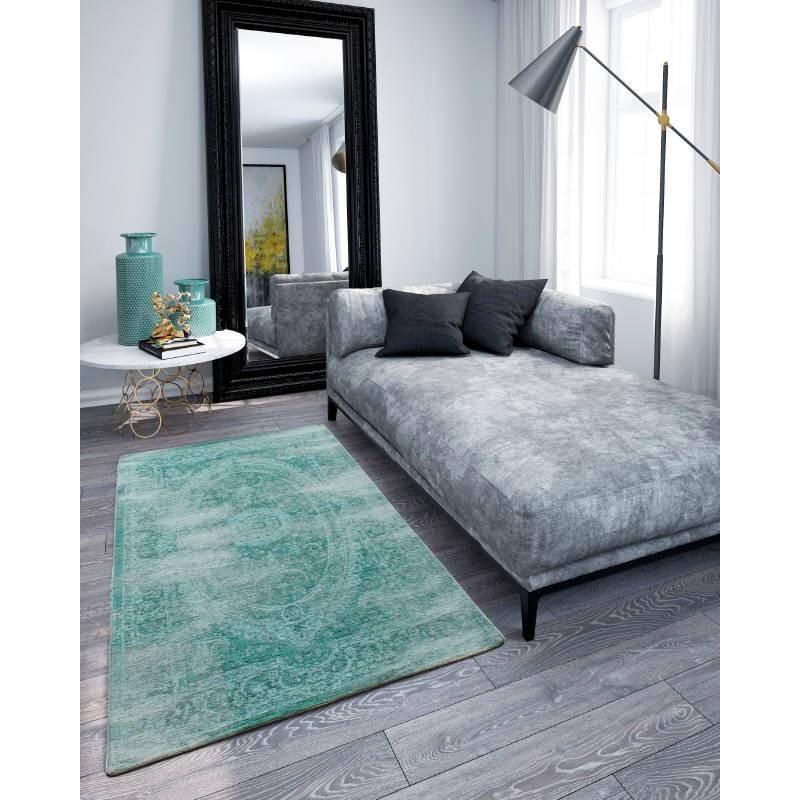 Tappeto in soggiorno moderno colore slavato 200 X 280 cm Berlino (turchese)