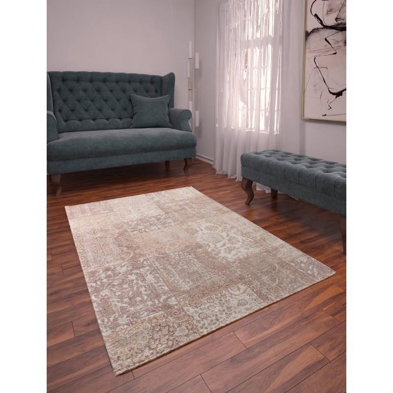 Soggiorno tappeto moderno 120 X 170 cm (BEIGE - Avorio) Berlino ...
