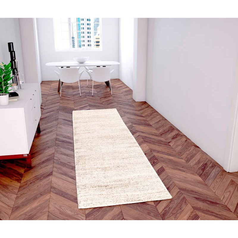 alfombra en pasillo moderno 80 x 300 cm moda moderna gabeh design crema marr n. Black Bedroom Furniture Sets. Home Design Ideas