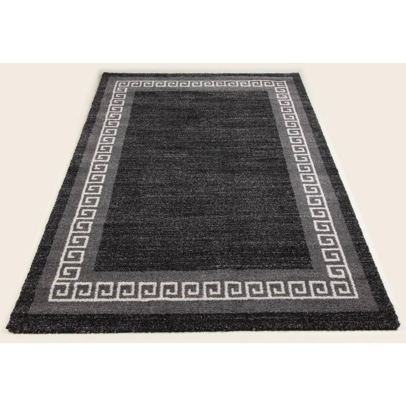 tapis de salon moderne et motifs 200x290 cm modern fashion gabeh gris fonce anthracite. Black Bedroom Furniture Sets. Home Design Ideas
