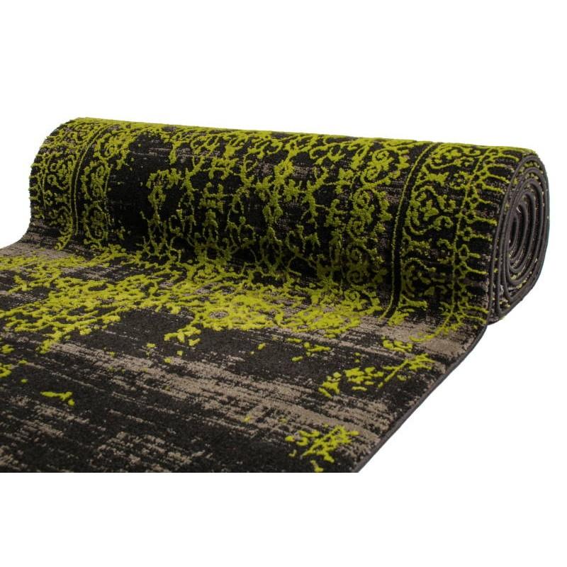 bunte flur teppich 80 x 300 cm moderne mode leo schwarz gr n. Black Bedroom Furniture Sets. Home Design Ideas
