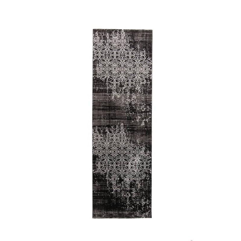 de moda moderno colorido pasillo alfombra 80 X 300 cm (negro - blanco)