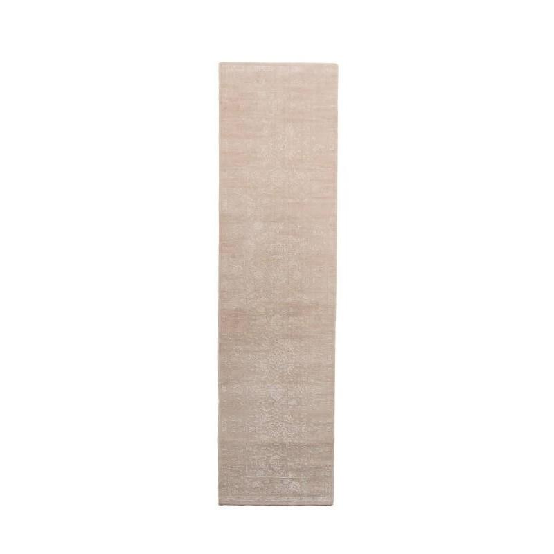 tapis de couloir color 80x300 cm modern fashion leo creme blanc. Black Bedroom Furniture Sets. Home Design Ideas