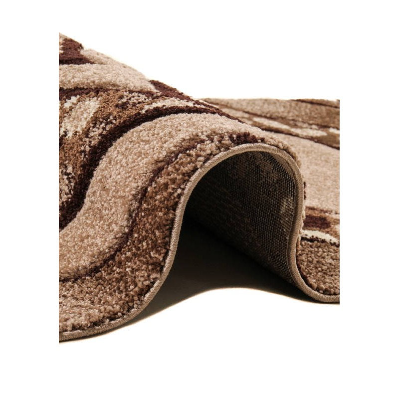 moderne flur teppich und 80 x 300 cm moderne fries fries superverso beige braun. Black Bedroom Furniture Sets. Home Design Ideas