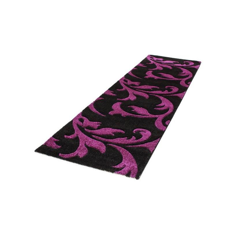 tapis de couloir moderne et fris 80x300 cm modern frise superverso noir dlil. Black Bedroom Furniture Sets. Home Design Ideas