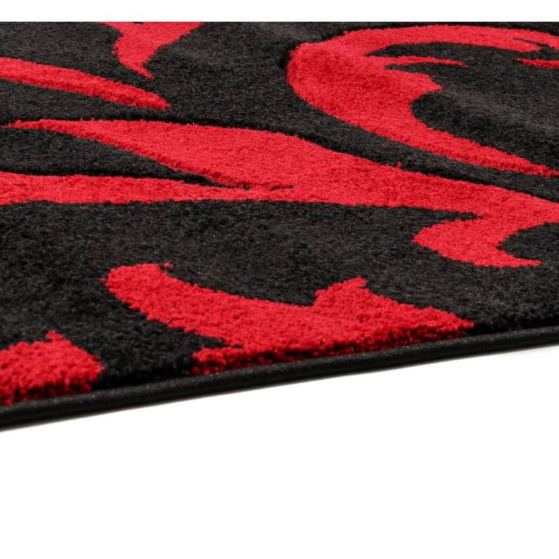 tapis de couloir moderne et fris 80x300 cm modern frise superverso noir rouge. Black Bedroom Furniture Sets. Home Design Ideas