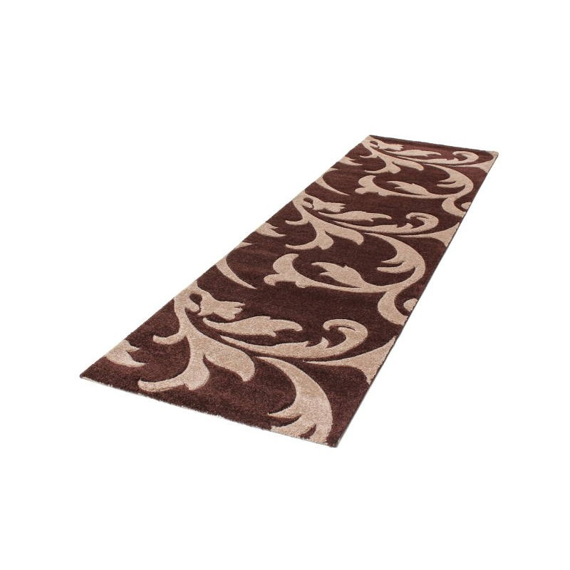 Modern And Frieze 80 X 300 Cm MODERN Frieze SUPERVERSO Hallway Carpet (dark  Brown   BEIGE)