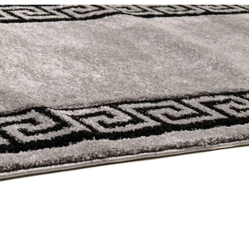 tapis de couloir moderne et fris 80x300 cm modern frise superverso gris noir. Black Bedroom Furniture Sets. Home Design Ideas