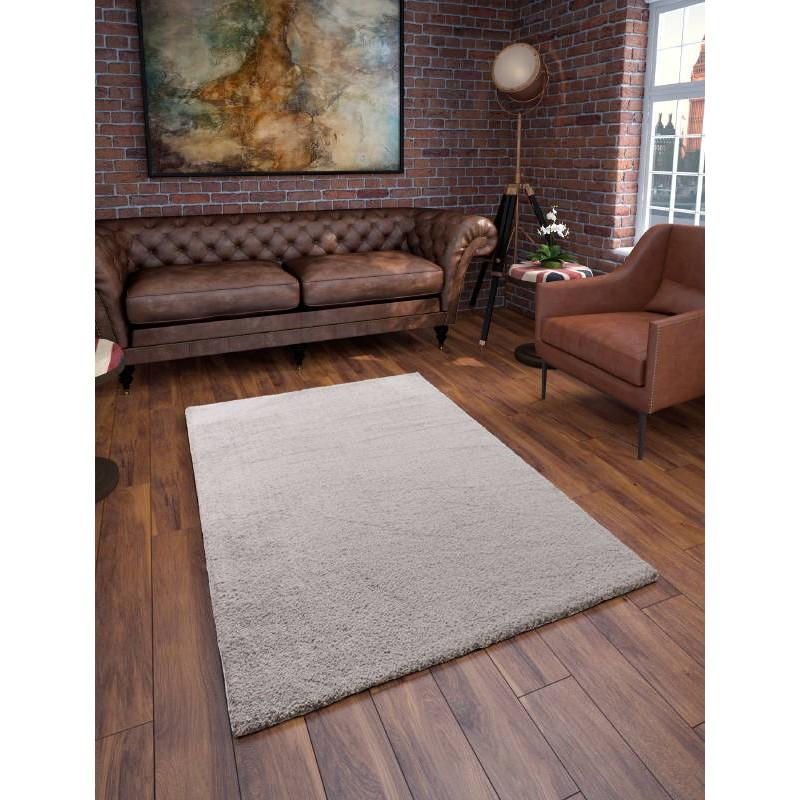 Tapis de salon shaggy de luxe moderne 200x290 cm shaggy - Tapis salon gris clair ...