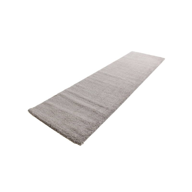 tapis de couloir shaggy de luxe moderne 80x300 cm shaggy luxury tiara gris clair. Black Bedroom Furniture Sets. Home Design Ideas
