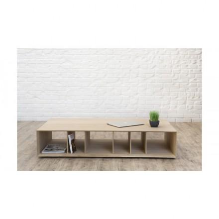 BRIEG in 100% rovere moderno tavolino in massello (rovere naturale grezzo)