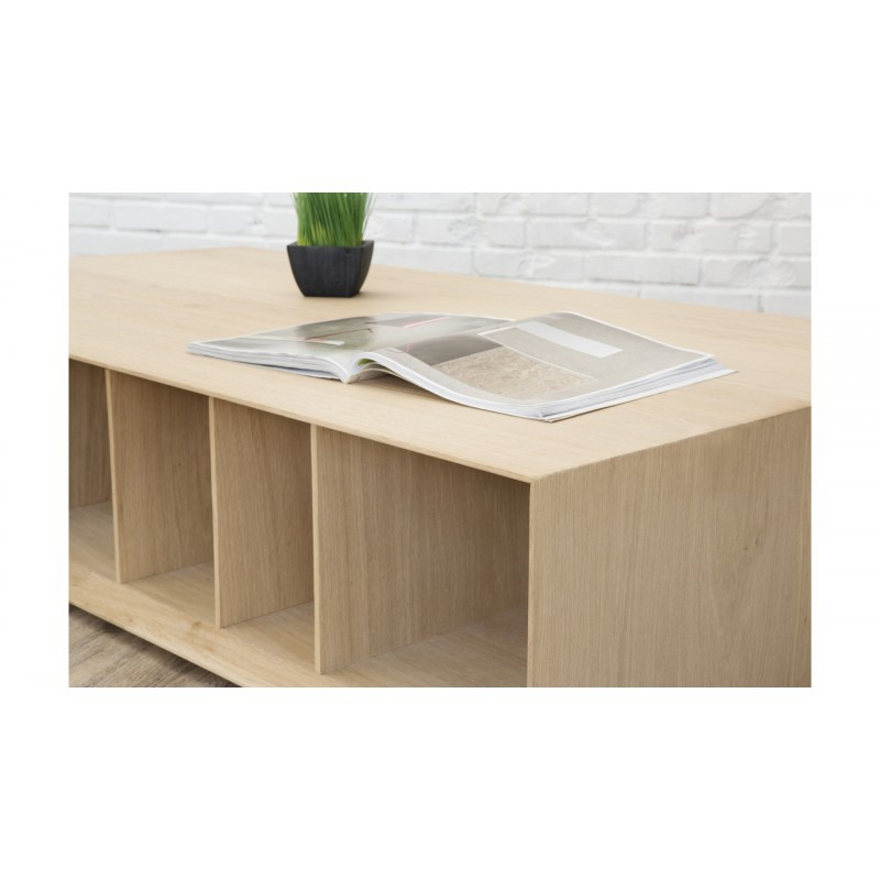 table basse moderne brieg en ch ne massif 100 ch ne brut naturel. Black Bedroom Furniture Sets. Home Design Ideas