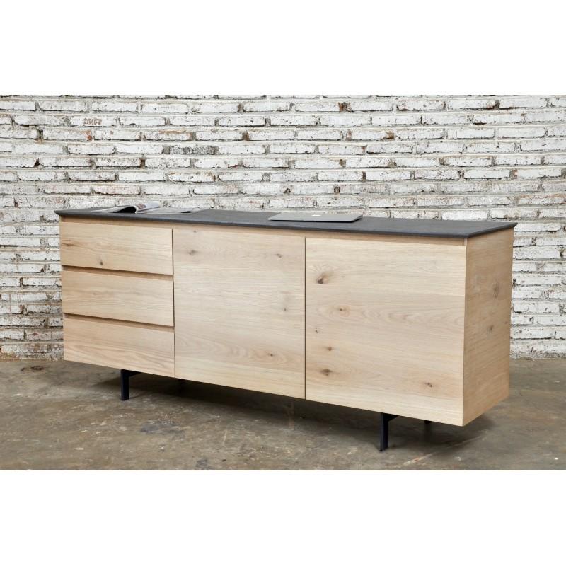 buffet enfilade bas design 2 portes 3 tiroirs adria en. Black Bedroom Furniture Sets. Home Design Ideas